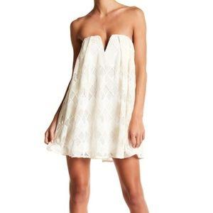Stylestalker Crochet Lace Strapless Mini Dress XS